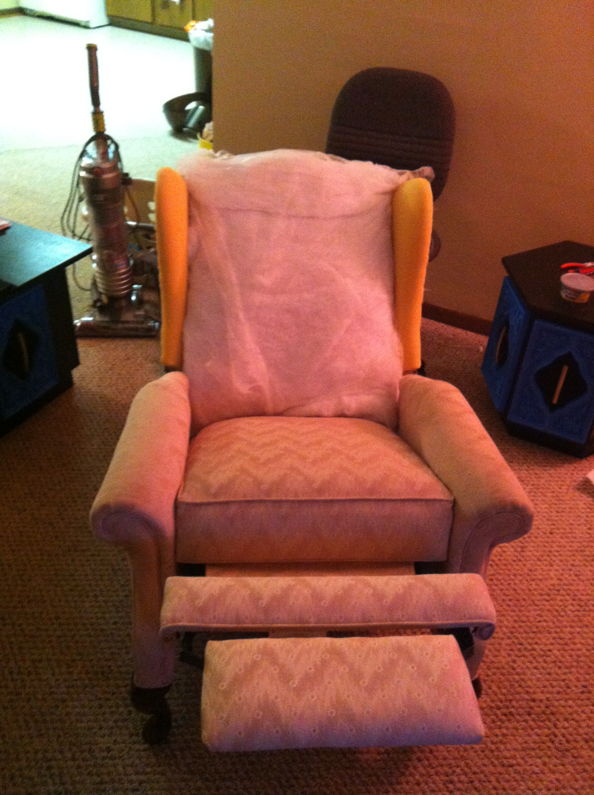 Reupholstered Reclining Wingback Chair – spoonfulofjemily